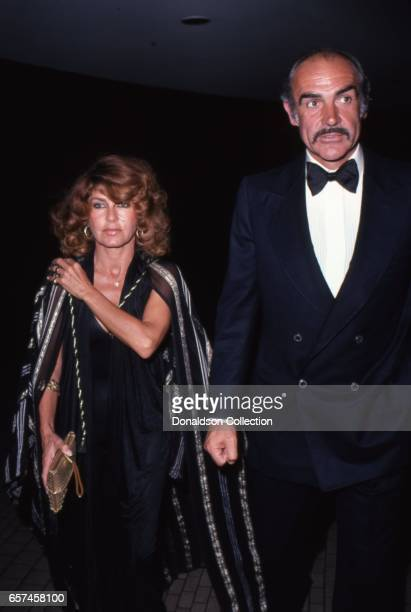 Actor Sean Connery attends an even with his wife Micheline Roquebrunet in Los Angeles California
