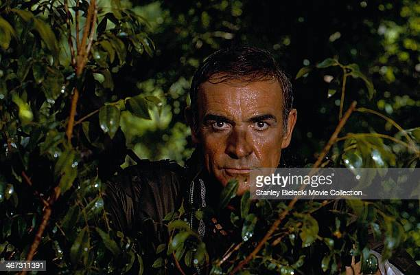 Actor Sean Connery in a scene from the film 'Never Say Never Again' 1983