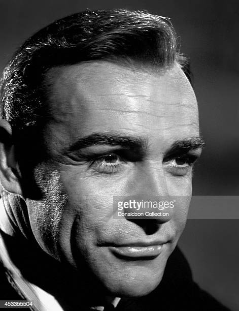 Actor Sean Connery poses as James Bond for a publicity photo for the United Artists fim 'Goldfinger' in 1964 Photo by Donaldson Collection/Michael...
