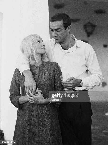 Actor Sean Connery who plays James Bond pictured with his new bride actress Diane Cilento on their honeymoon near Marbella in Southern Spain shortly...