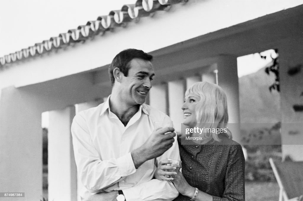 Actor Sean Connery who plays James Bond, pictured with his new bride, actress Diane Cilento on their honeymoon near Marbella in Southern Spain, shortly after their secret wedding in Gibraltar, 2nd December 1962.