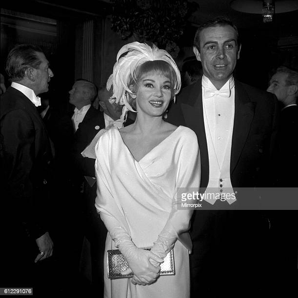 Actor Sean Connery with wife Diane Cilento at the London Film Premiere of Lord Jim February 1965 RU1379