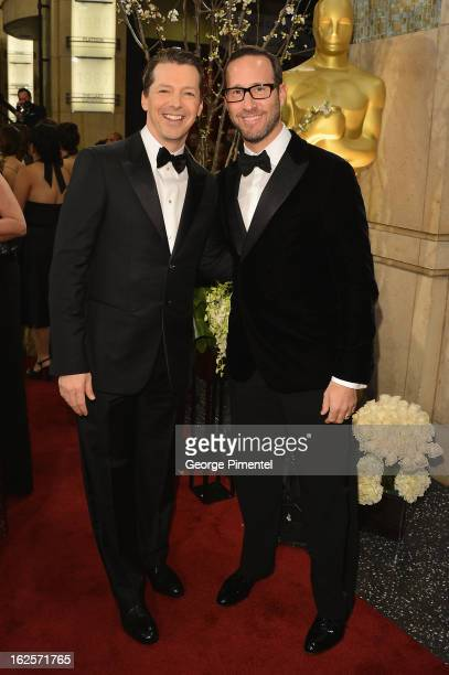 Actor Sean Hayes and WME Partner Richard Weitz arrive at the Oscars at Hollywood Highland Center on February 24 2013 in Hollywood California