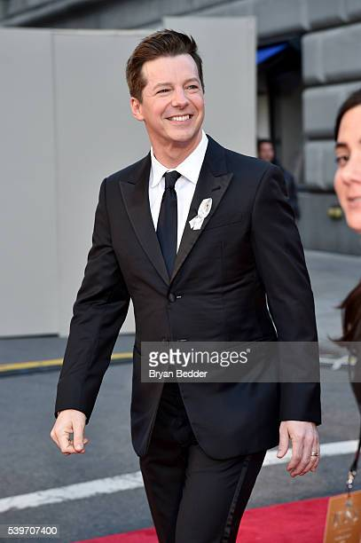 Actor Sean Hayes arrives at FIJI Water at 2016 Tony Awards at The Beacon Theatre on June 12 2016 in New York City