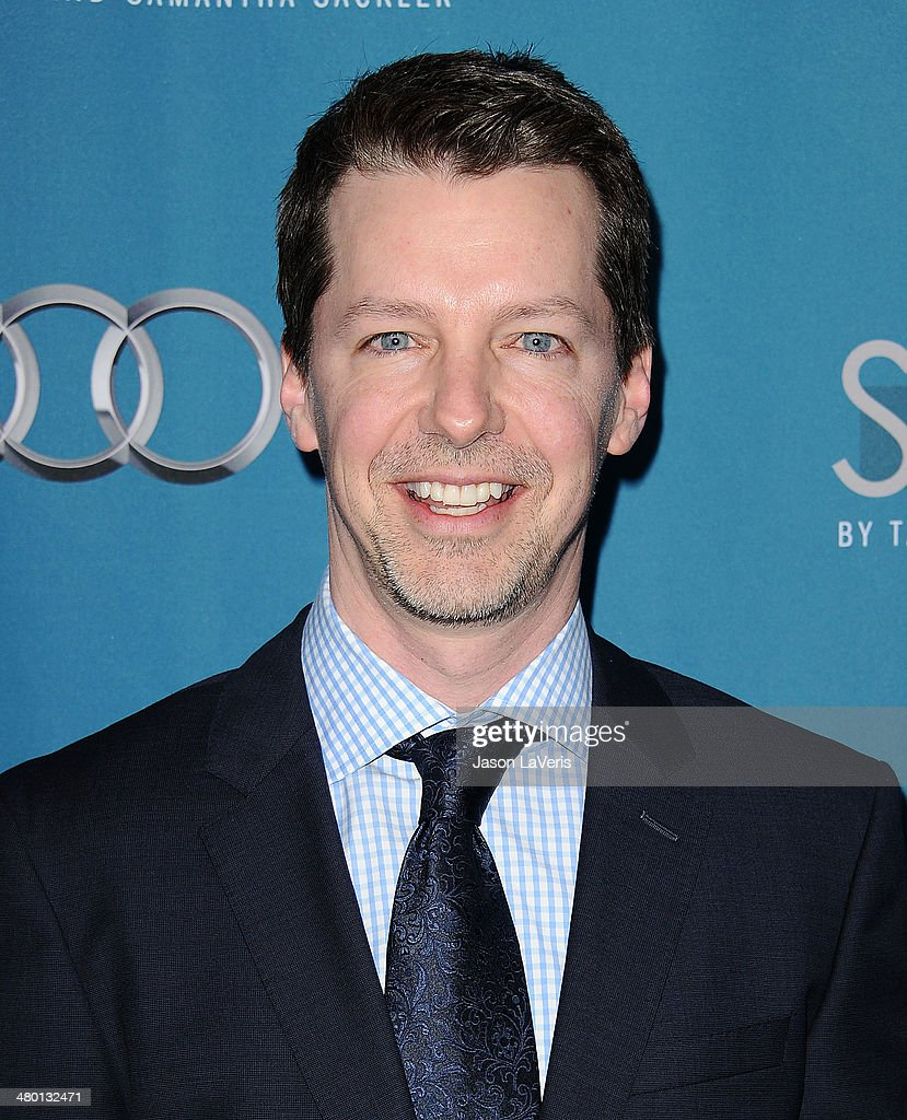 Actor <a gi-track='captionPersonalityLinkClicked' href=/galleries/search?phrase=Sean+Hayes&family=editorial&specificpeople=204240 ng-click='$event.stopPropagation()'>Sean Hayes</a> attends the Backstage at the Geffen annual fundraiser at Geffen Playhouse on March 22, 2014 in Los Angeles, California.