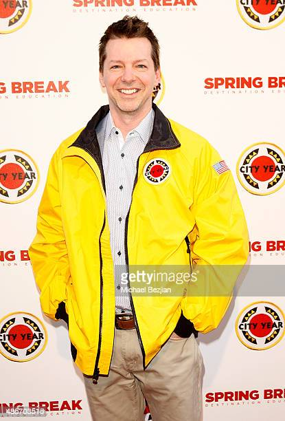 Actor Sean Hayes attends the City Year Los Angeles 'Spring Break' Fundraiser at Sony Studios on April 19 2014 in Los Angeles California