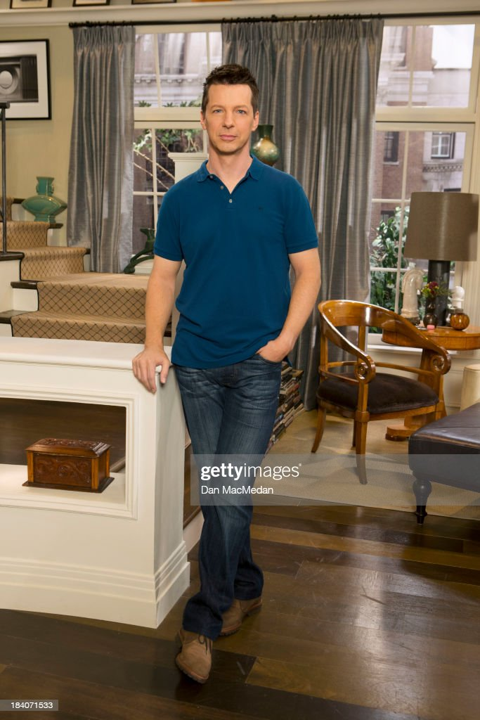 Actor <a gi-track='captionPersonalityLinkClicked' href=/galleries/search?phrase=Sean+Hayes&family=editorial&specificpeople=204240 ng-click='$event.stopPropagation()'>Sean Hayes</a> is photographed for USA Today on September 25, 2013 on the set of 'Sean Saves the World' in Universal City, California.