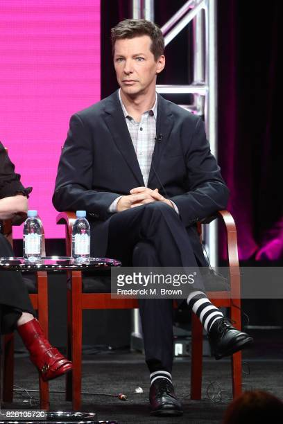 Actor Sean Hayes of 'Will Grace' speaks onstage during the NBCUniversal portion of the 2017 Summer Television Critics Association Press Tour at The...