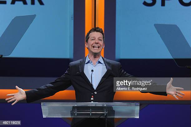 Actor Sean Hayes on stage at the 2014 Sports Spectacular Gala at the Hyatt Regency Century Plaza on May 18 2014 in Century City California