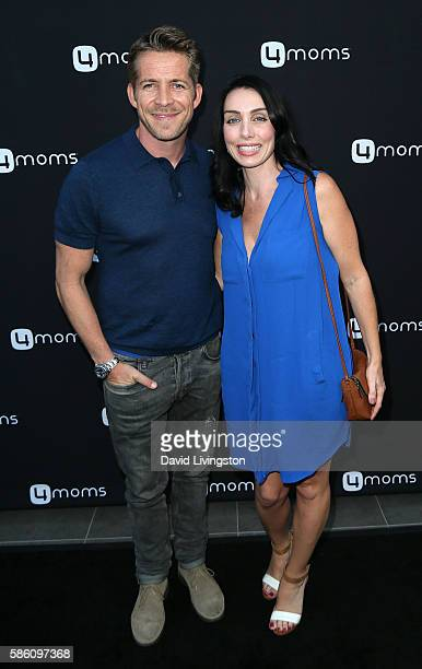 Actor Sean Maguire and wife Tanya Flynn attend 4moms launch of a selfinstalling car seat at Petersen Automotive Museum on August 4 2016 in Los...
