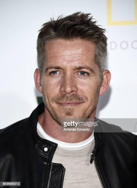 Actor Sean Maguire arrives at the premiere of National Geographic Documentary Films' 'Jane' at the Hollywood Bowl on October 9 2017 in Hollywood...
