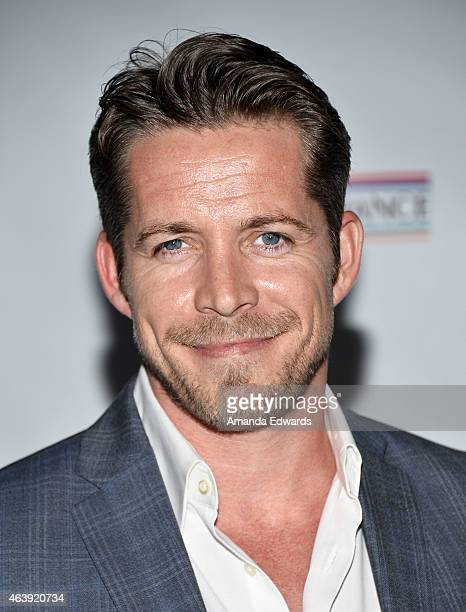 Actor Sean Maguire arrives at the USIreland Alliance PreAcademy Awards Honors event at Bad Robot on February 19 2015 in Santa Monica California