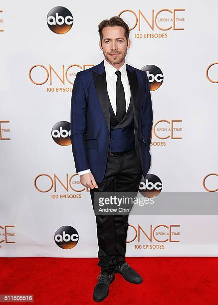 Actor Sean Maguire attends the 100th episode celebration of 'Once Upon A Time' at Storybrooke Cannery on February 20 2016 in Vancouver Canada