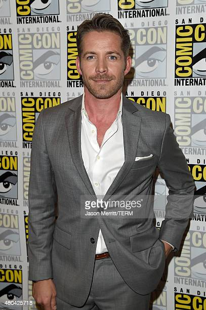 Actor Sean Maguire attends the 'Once Upon A Time' press room during ComicCon International 2015 at the Hilton Bayfront on July 11 2015 in San Diego...
