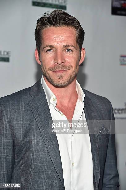 Actor Sean Maguire attends the USIreland Aliiance's Oscar Wilde Awards event at JJ Abrams' Bad Robot on February 19 2015 in Santa Monica California