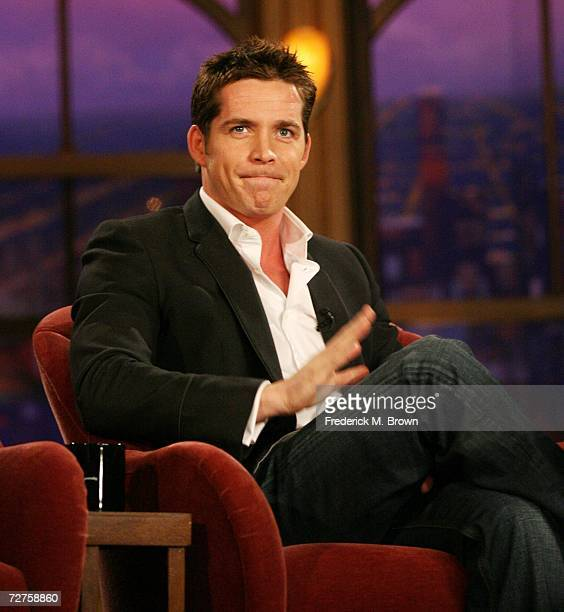 Actor Sean Maguire speaks during a segment of 'The Late Late Show with Craig Ferguson' at CBS Television City on December 6 2006 in Los Angeles...