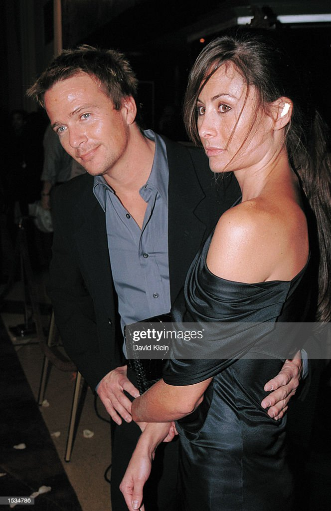 Actor Sean Patrick Flannery and model Sasha arrive at the premiere of 'Kiss the Bride' at the Showcase Regent Theatre October 23, 2002 in Los Angeles, California.