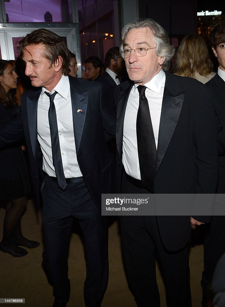 Actor Sean Penn (L) and actor Robert DeNiro attend the Haiti Carnival in Cannes Benefitting J/P HRO, Artists for Peace and Justice & Happy Hearts Fund Presented By Armani during the 65th Annual Cannes Film Festival on May 18, 2012 in Cannes, France.