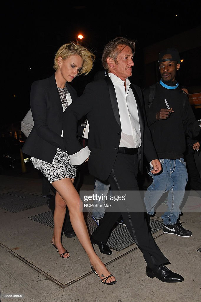 Actor Sean Penn and Charlize Theron are seen at the after-party for The Costume Institute Benefit Gala on May 5, 2014 in New York City.