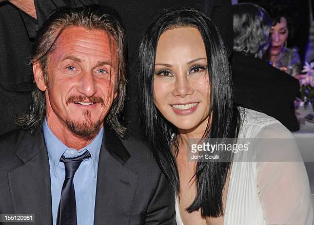 Actor Sean Penn and LACMA Art Film Gala CoChair Eva Chow attend LACMA 2012 Art Film Gala Honoring Ed Ruscha and Stanley Kubrick presented by Gucci at...