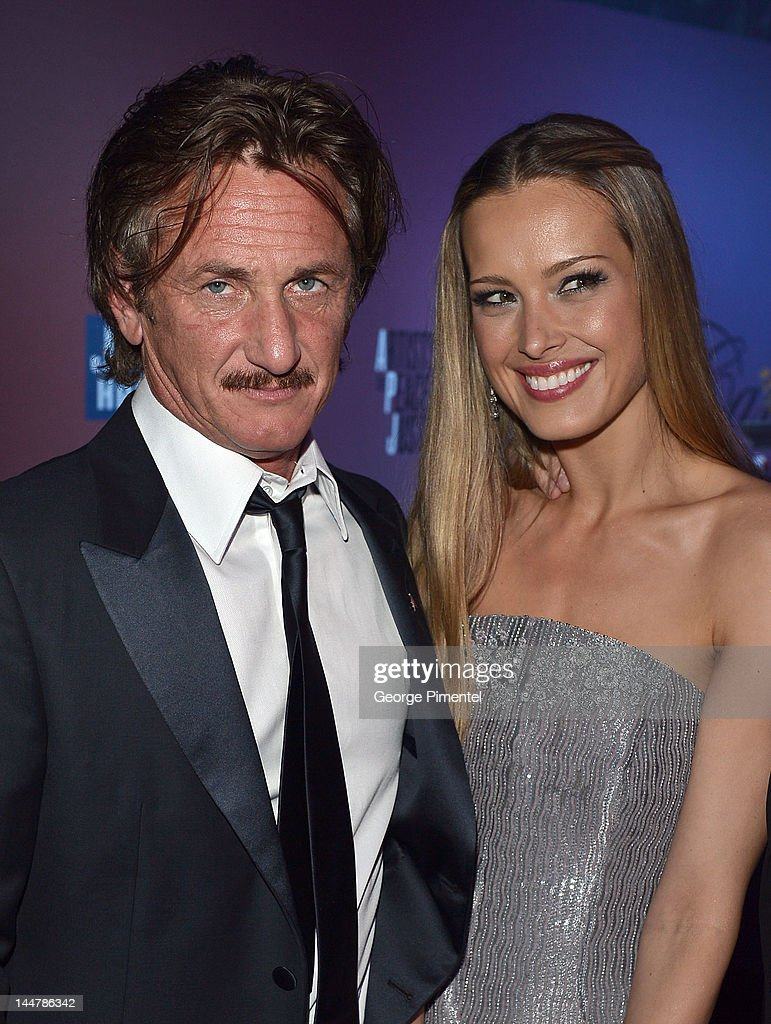 Actor Sean Penn (L) and model Petra Nemcova attend the Haiti Carnival in Cannes Benefitting J/P HRO, Artists for Peace and Justice & Happy Hearts Fund Presented By Armani during the 65th Annual Cannes Film Festival on May 18, 2012 in Cannes, France.
