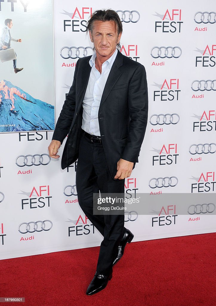 Actor Sean Penn arrives at AFI FEST 2013 'The Secret Life Of Walter Mitty' premiere at TCL Chinese Theatre on November 13, 2013 in Hollywood, California.
