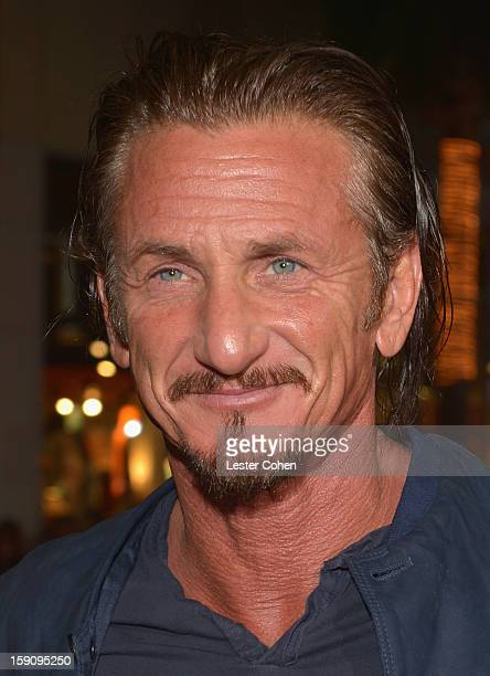 Actor Sean Penn arrives at the 'Gangster Squad' premiere at Grauman's Chinese Theatre on January 7 2013 in Hollywood California