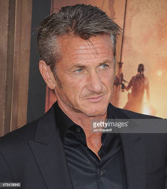 Actor Sean Penn arrives at the Los Angeles Premiere 'Mad Max Fury Road' at TCL Chinese Theatre IMAX on May 7 2015 in Hollywood California
