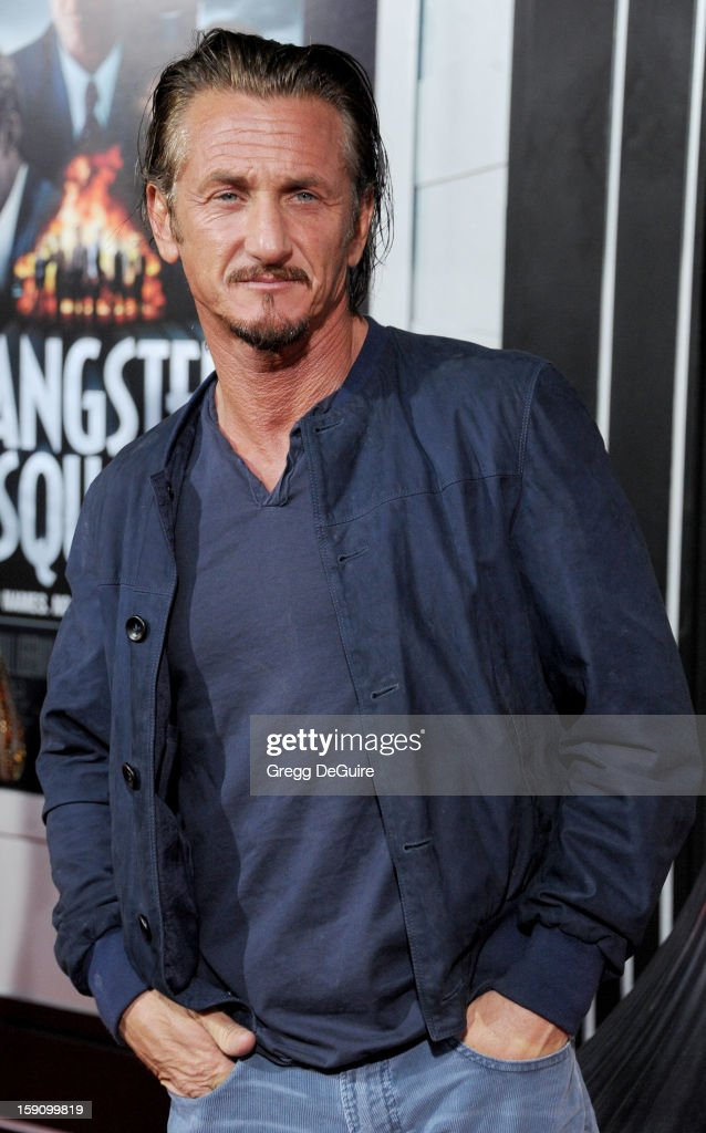 Actor Sean Penn arrives at the Los Angeles premiere of 'Gangster Squad' at Grauman's Chinese Theatre on January 7, 2013 in Hollywood, California.