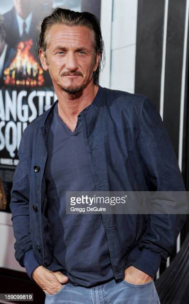Actor Sean Penn arrives at the Los Angeles premiere of 'Gangster Squad' at Grauman's Chinese Theatre on January 7 2013 in Hollywood California