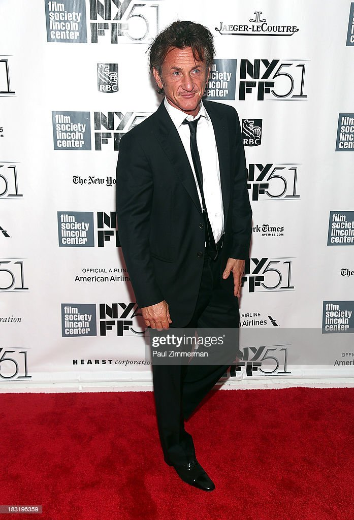 Actor Sean Penn attends the Centerpiece Gala Presentation Of 'The Secret Life Of Walter Mitty' premiere during the 51st New York Film Festival at Alice Tully Hall at Lincoln Center on October 5, 2013 in New York City.