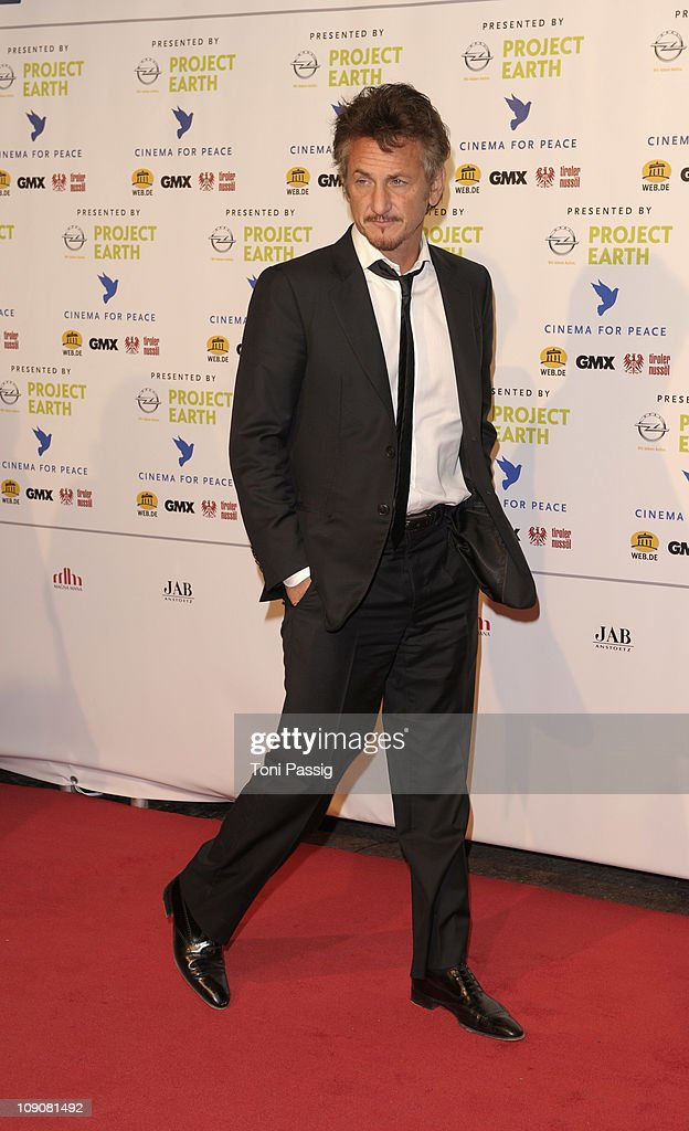 Actor Sean Penn attends the Cinema for Peace Gala at the Konzerthaus am Gendarmenmarkt during day five of the 61st Berlin International Film Festival on February 14, 2011 in Berlin, Germany.