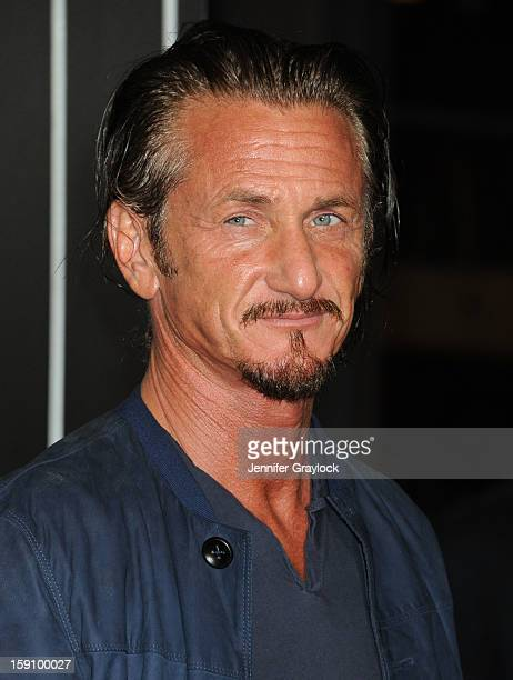 Actor Sean Penn attends the 'Gangster Squad' Los Angeles premiere held at Grauman's Chinese Theatre on January 7 2013 in Hollywood California