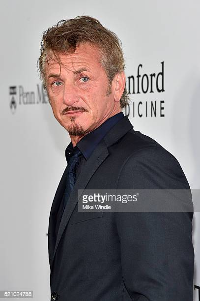Actor Sean Penn attends the launch of the Parker Institute for Cancer Immunotherapy an unprecedented collaboration between the country's leading...