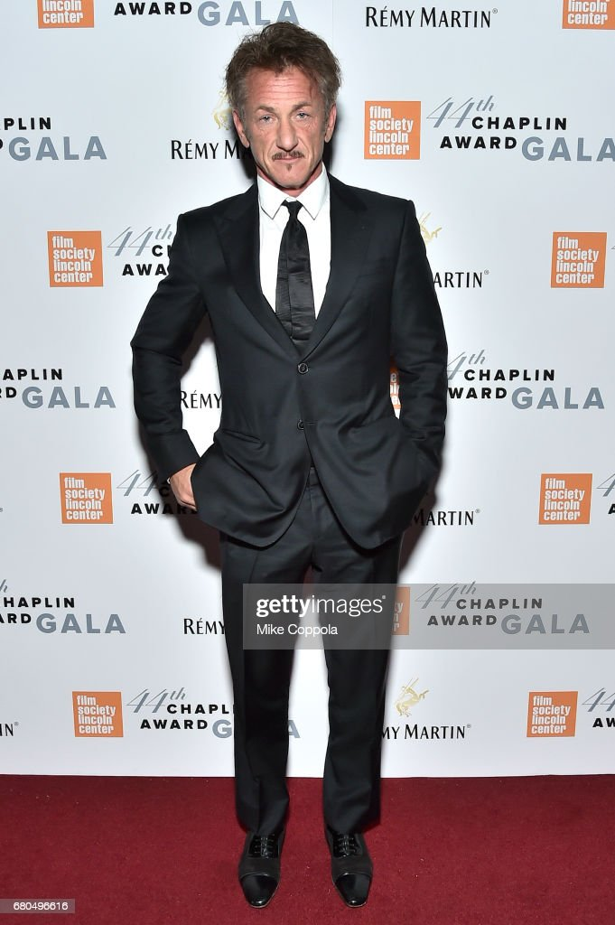 Actor Sean Penn backstage during the 44th Chaplin Award Gala at David H. Koch Theater at Lincoln Center on May 8, 2017 in New York City.