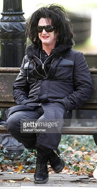 Actor Sean Penn is seen on the set of the movie 'This Must Be The Place' on location in Central Park Manhattan on October 21 2010 in New York City