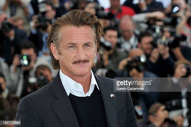 Actor Sean Penn poses at the 'Haiti Carnaval In Cannes' photocall during the 65th Annual Cannes Film Festival on May 18 2012 in Cannes France