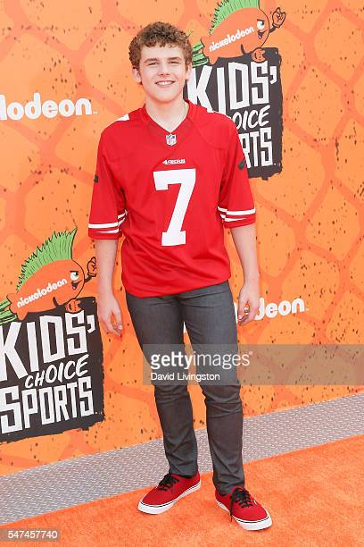 Actor Sean Ryan Fox arrives at the Nickelodeon Kids' Choice Sports Awards 2016 at the UCLA's Pauley Pavilion on July 14 2016 in Westwood California
