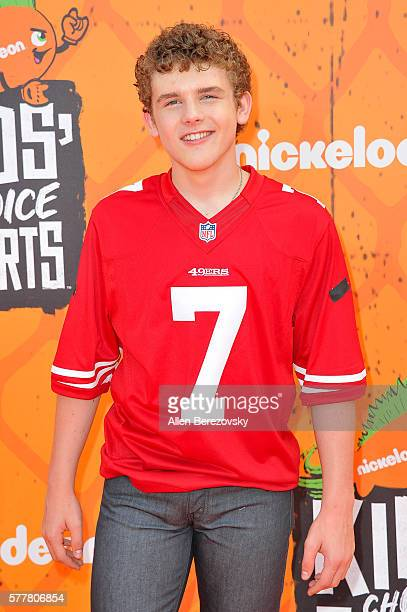 Actor Sean Ryan Fox arrives at the Nickelodeon Kids' Choice Sports Awards 2016 at UCLA's Pauley Pavilion on July 14 2016 in Westwood California
