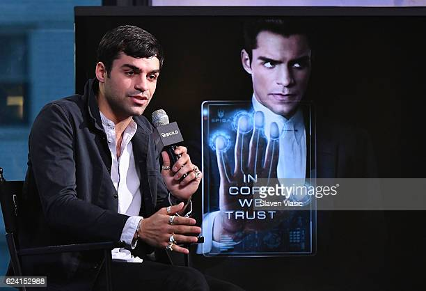 Actor Sean Teale discusses the new series 'Incorporated' at AOL BUILD at AOL HQ on November 18 2016 in New York City
