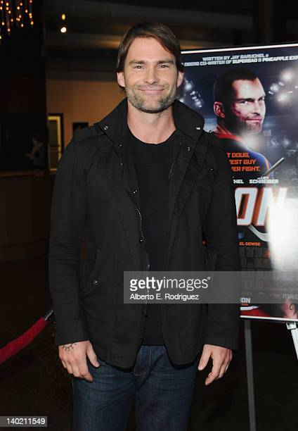 Actor Sean William Scott arrives at Magnet Releasing's Los Angeles Screening of 'Goon' at DGA Theater on February 29 2012 in Los Angeles California
