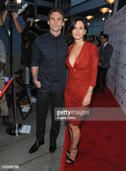 Actor Seann William Scott and director Courteney Cox attend the Los Angeles Special Screening of 'Just Before I Go' at ArcLight Hollywood on April 20...