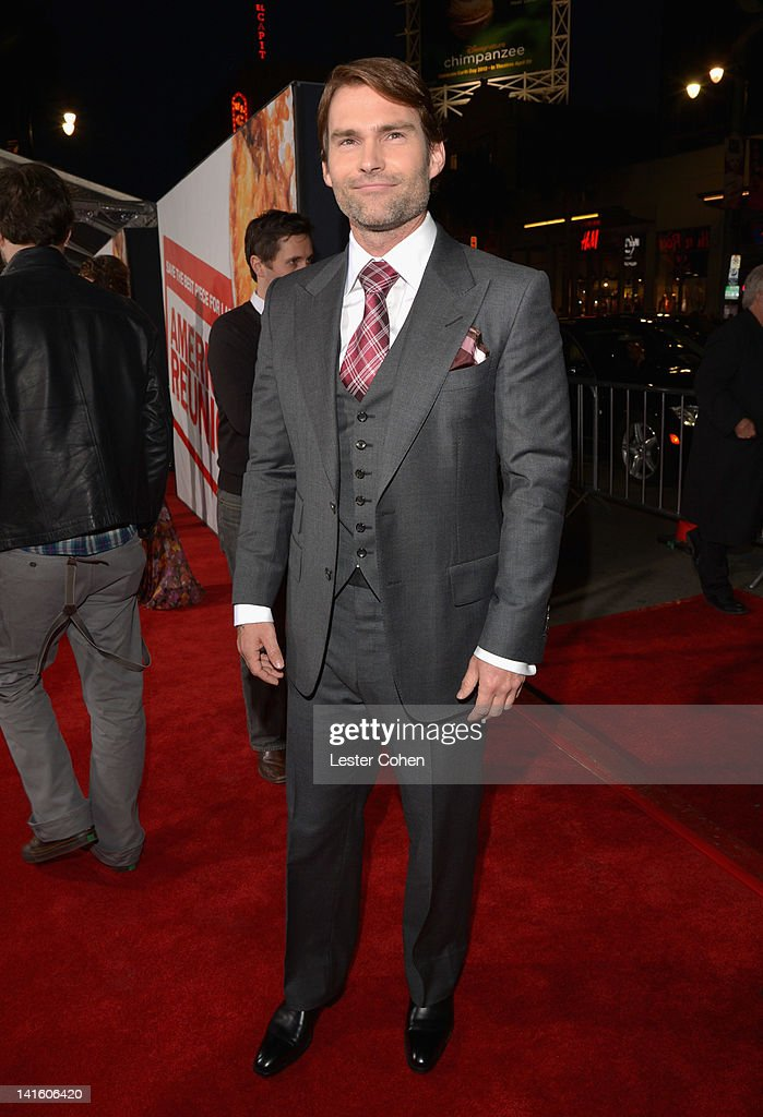 Actor Seann William Scott arrives at the 'American Reunion' Los Angeles Premiere March 19 2012 in Hollywood California