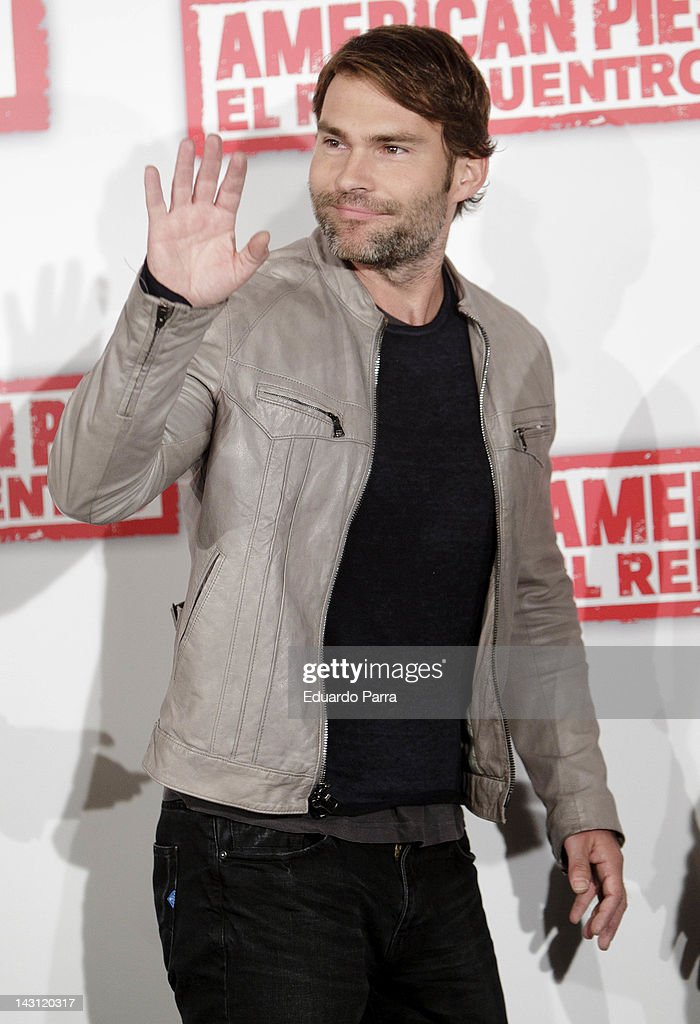 Actor Seann William Scott attends 'American Pie: Reunion' (American Pie: El Reencuentro) photocall at Villamagna Hotel on April 19, 2012 in Madrid, Spain.