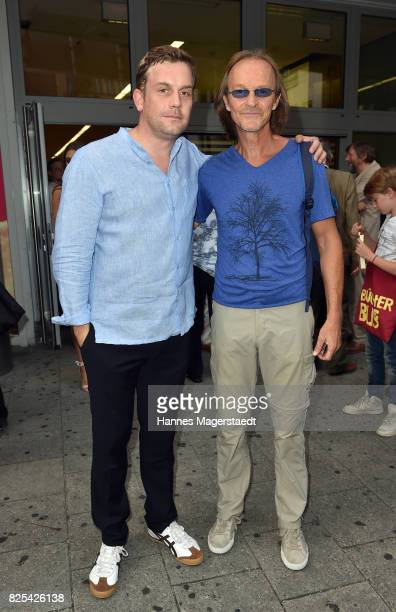 Actor Sebastian Bezzel and Eisi Gulp during the 'Griessnockerlaffaere' premiere at Mathaeser Filmpalast on August 1 2017 in Munich Germany