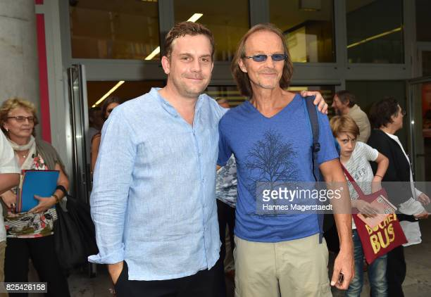 Actor Sebastian Bezzel and Eisi Gulp during the 'Griessnockerlaffaire' premiere at Mathaeser Filmpalast on August 1 2017 in Munich Germany