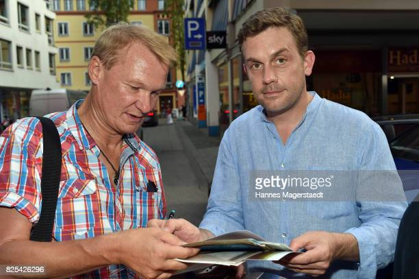 Actor Sebastian Bezzel during the 'Griessnockerlaffaire' premiere at Mathaeser Filmpalast on August 1 2017 in Munich Germany