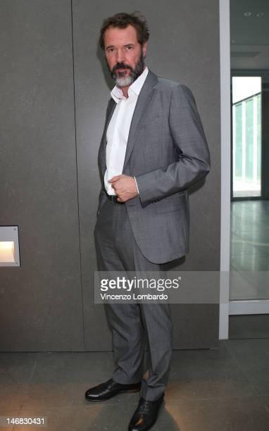 Actor Sebastian Koch attends the Ermenegildo Zegna show as part of Milan Fashion Week Menswear Spring/Summer 2013 on June 23 2012 in Milan Italy
