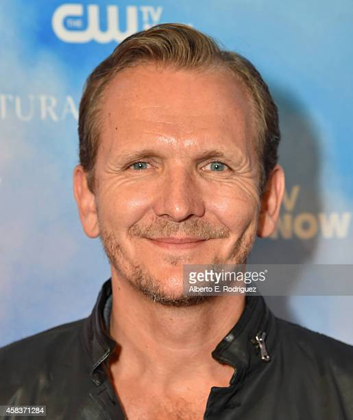 Actor Sebastian Roche attends the CW's Fan Party to Celebrate the 200th episode of 'Supernatural' on November 3 2014 in Los Angeles California