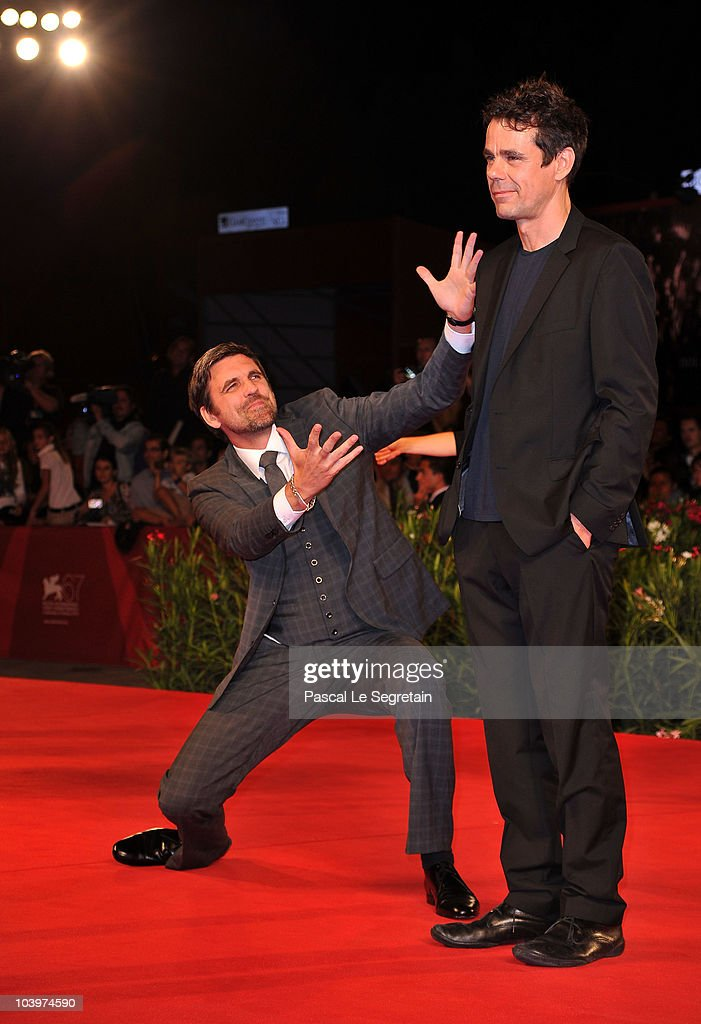 Actor Sebastian Schipper and director Tom Tykwer attend the 'Drei' premiere during the 67th Venice Film Festival at the Sala Grande Palazzo Del...